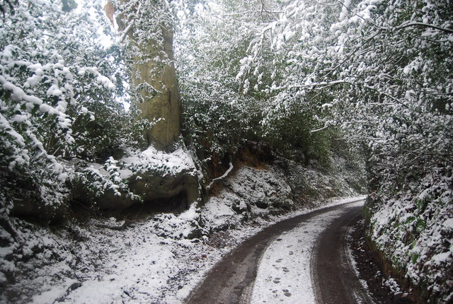 Icy conditions, Frank's Hollow Rd