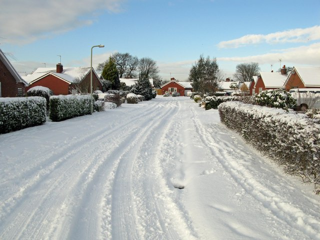 Cottage Fields in the snow