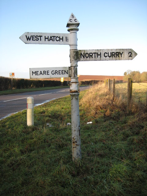 Signpost on A378 near Wrantage