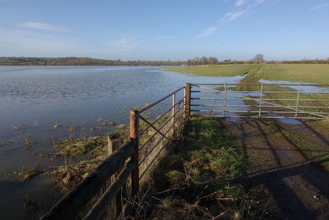 Flooded fields near Aynho