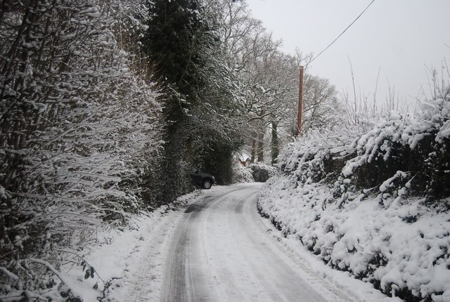 Icy road conditions, Frank's Hollow Rd