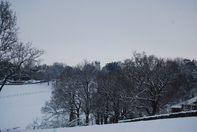 View towards the old windmill from Frank's Hollow Rd