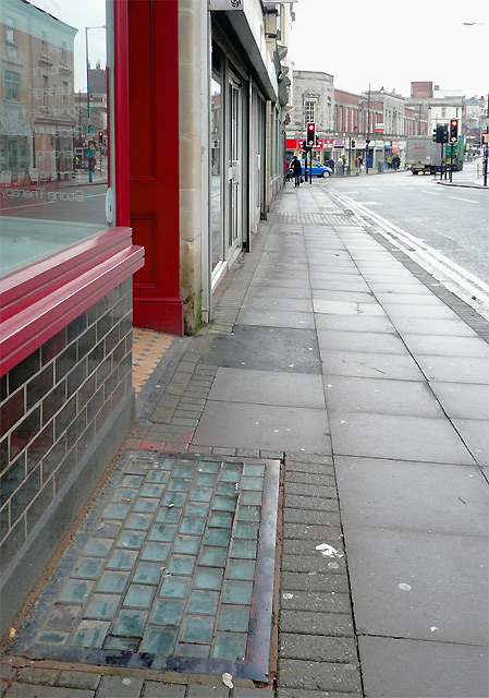 Pavement in Worcester Street, Wolverhampton