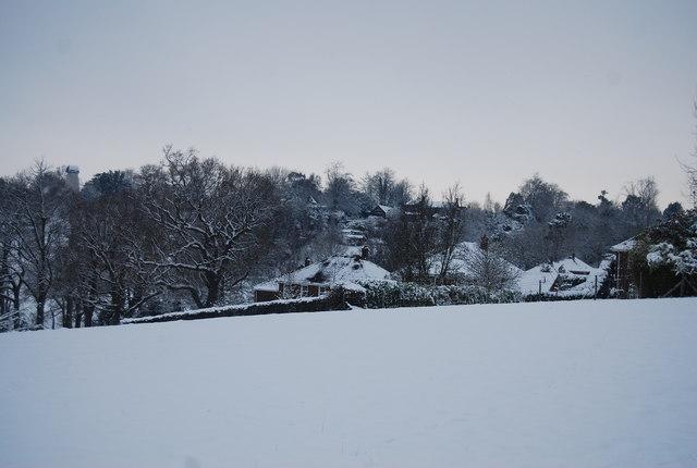 The edge of Bidborough in the snow