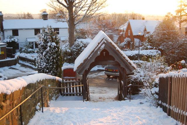 Lych Gate on Spring Lane