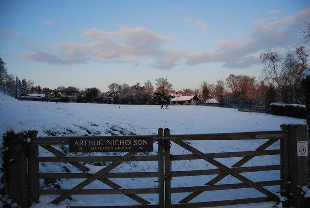 Arthur Nicholson Recreation Ground, Spring Lane