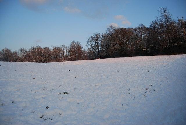 Wealdway between Bidborough & Southborough, in the snow