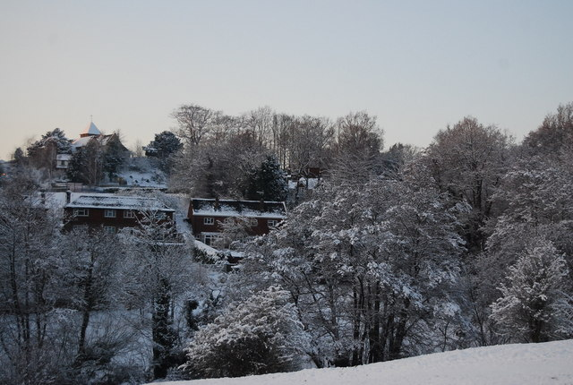 View of Bidborough in the snow