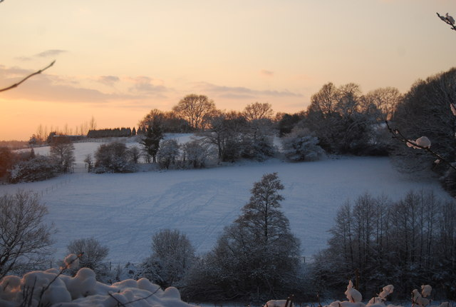 Countryside around Bidborough in the snow
