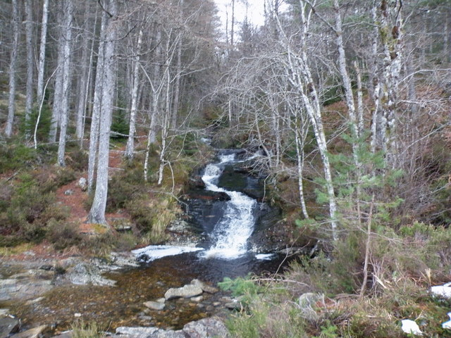 Allt na Crìche from bridge on Old Military Road