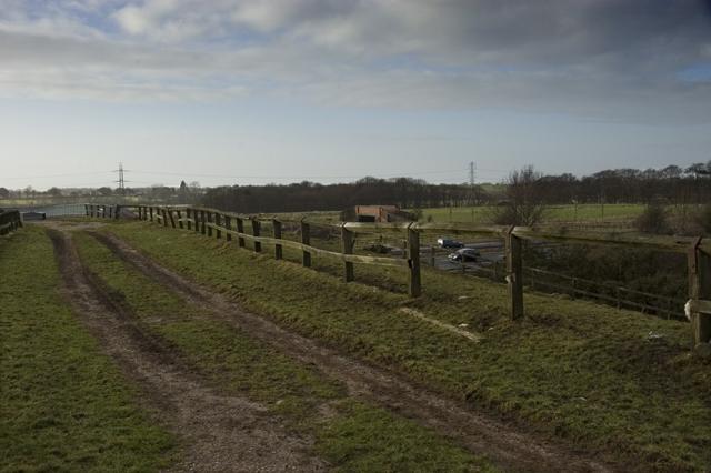 Farm track across the M6 Motorway