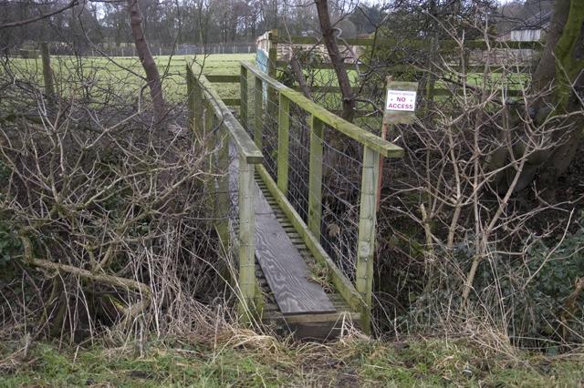 Private footbridge at Clarksons Farm