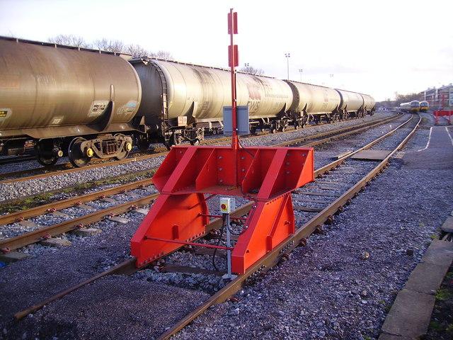 Stabling siding outside Oxford station