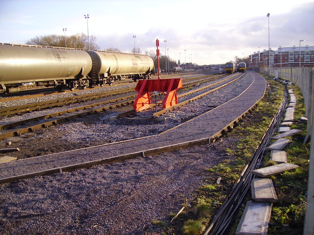 Stabling sidings outside Oxford station