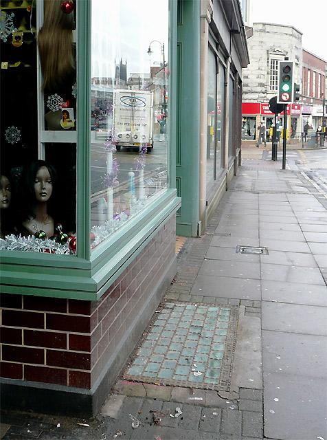 Pavement in Worcester Street, Wolverhampton