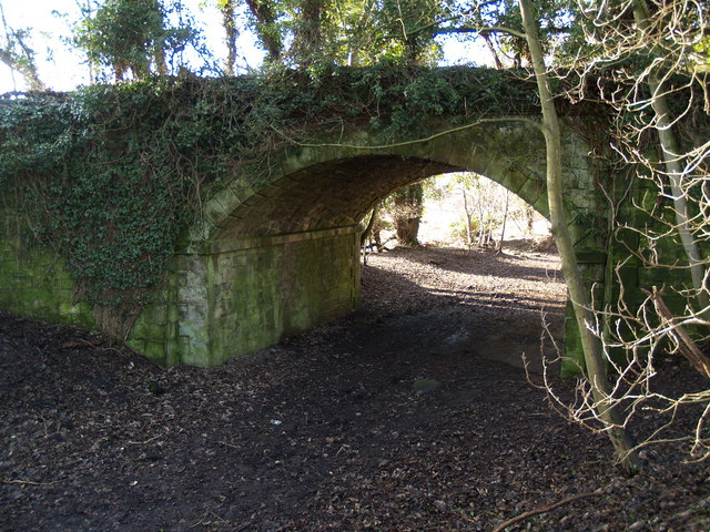 Bridge over path on the former Border Counties line