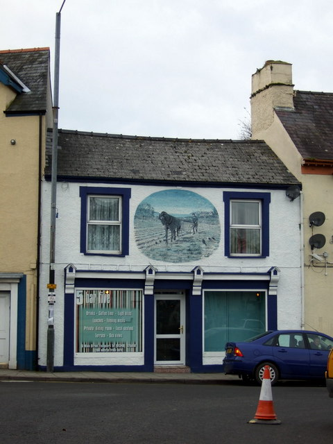 Shop premises with mural