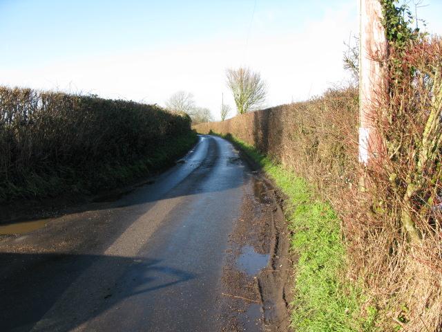 View along Bank Road, a Roman road