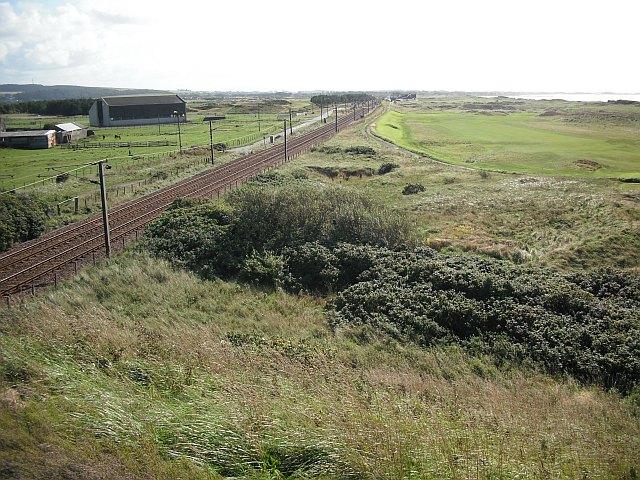 Glasgow to Ayr railway, Western Gailes