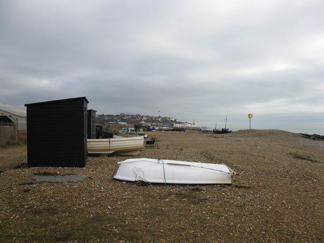 Fisherman's huts and boats