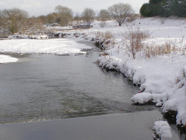 River Irwell, Weir at Warth Mills