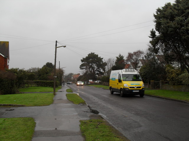 Delivery van in Broadmark Lane