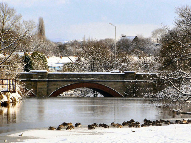 River Irwell, Warth Bridge