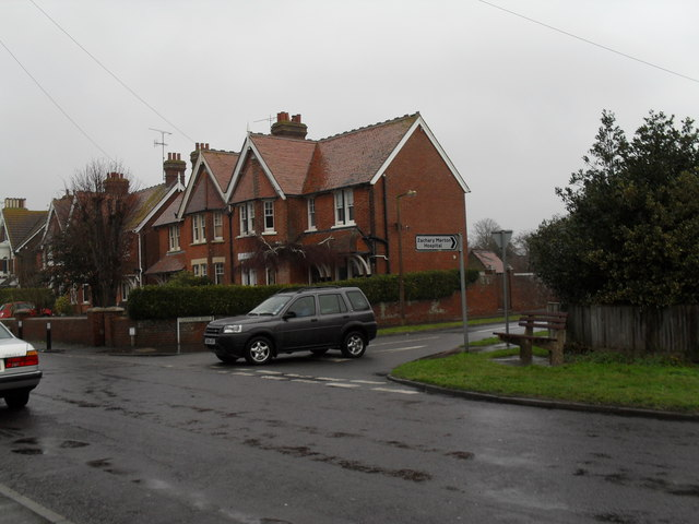 Looking from Broadmark Lane into Glenville Road