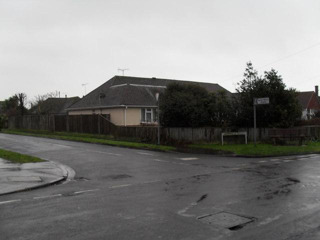 Junction of Glenville Road and Broadmark Lane
