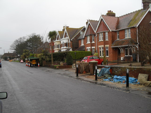 Roadworks in Broadmark Lane