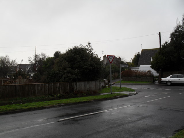 Looking from Glenville Road into Broadmark Lane