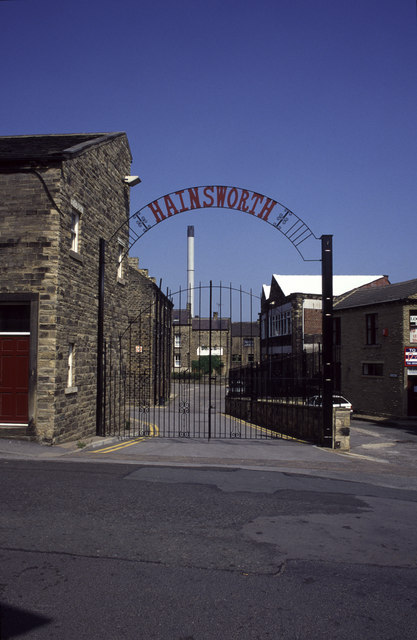 Entrance to Hainsworth's Mill, Stanningley Bottom
