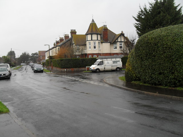 Glenville Road during heavy January rain