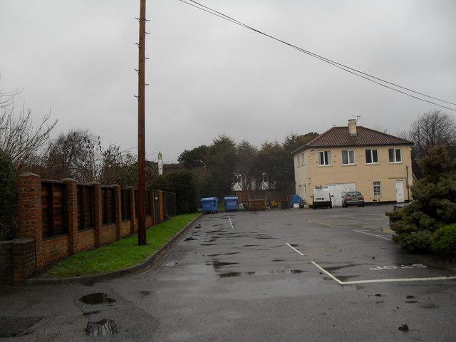 An empty car park at Zachary Merton Hospital