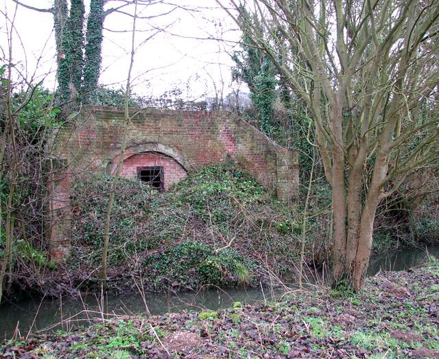 Blocked tunnel under Whitlingham Lane