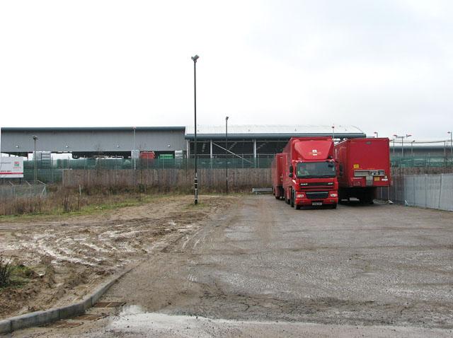Parcelforce lorry depot
