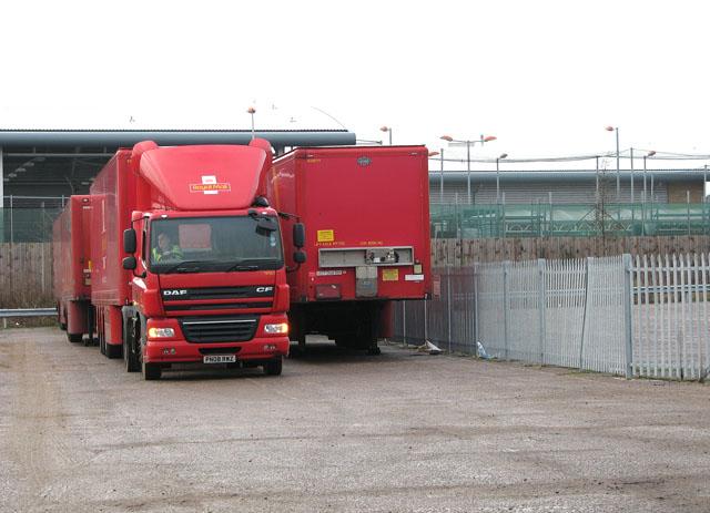 Parcelforce lorry depot in Bessemer Road