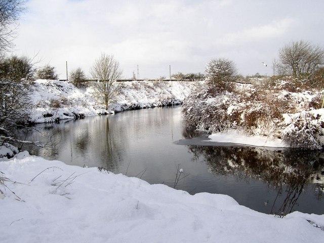 River Irwell, Warth Mills