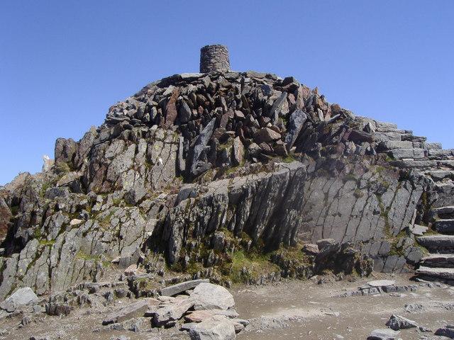 The summit of Yr Wyddfa