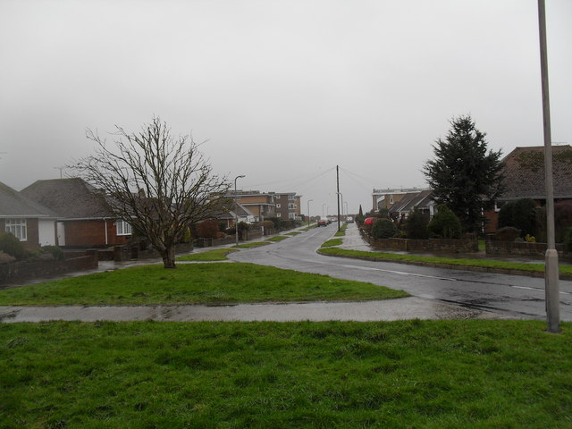 A wet and windy day in Dolphin Way