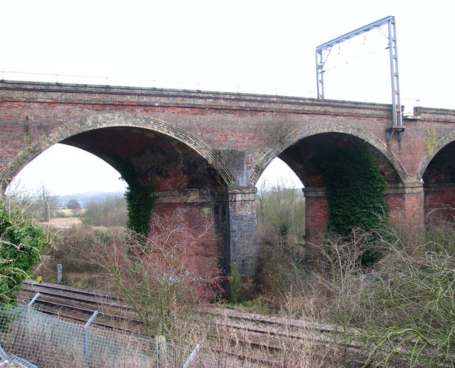 The Harford Rail Viaduct over the Ely line