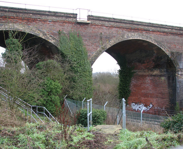 The Harford Rail Viaduct - graffiti in one of the arches