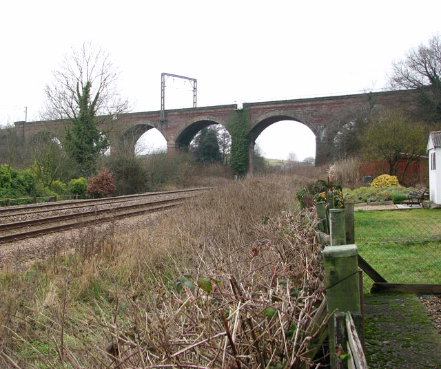The Harford Rail Viaduct viewed from Theobald Road