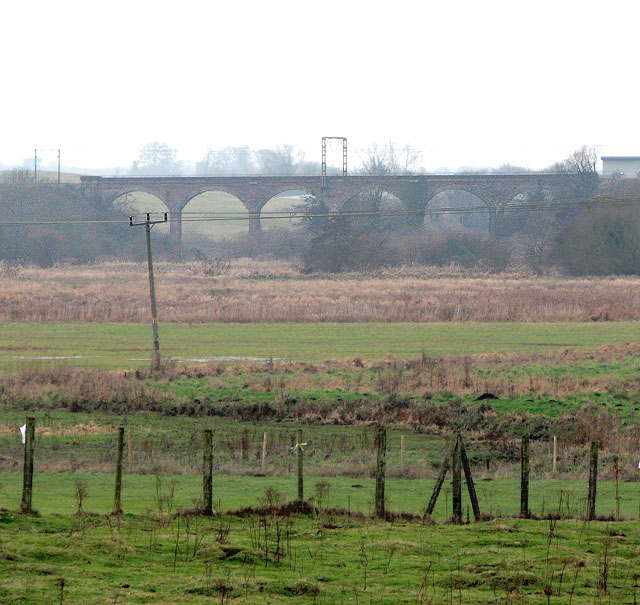 The Harford Rail Viaduct viewed from Stoke Road