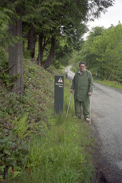 Slow walker in Aros Park