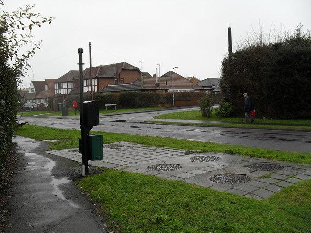 Looking from Sutton Avenue across Broadmark Lane towards Shaftesbury Road