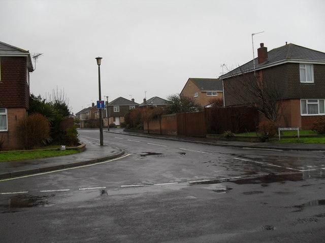 Looking from Broadmark Lane into Mallon Deane