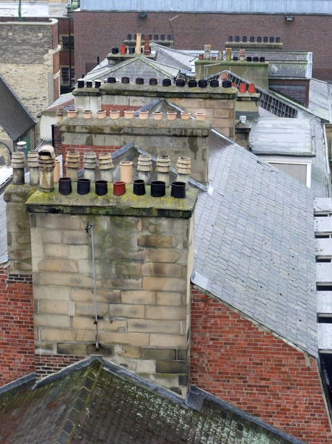 Roofs and chimneys, Eldon Square