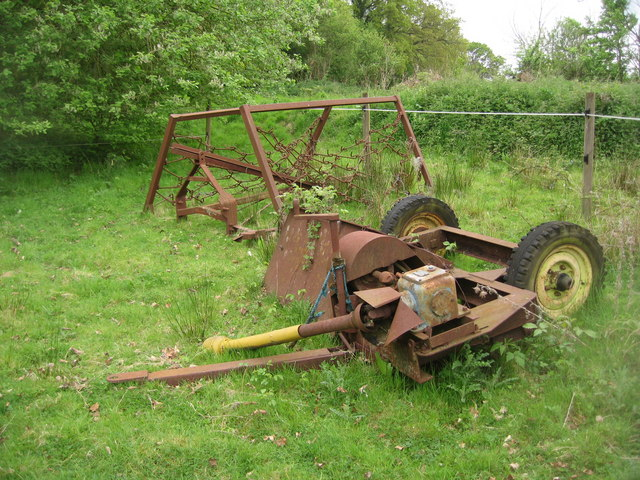 Rusting farm equipment