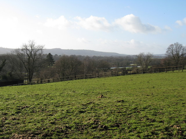 View SW from hillside footpath south of Abingworth